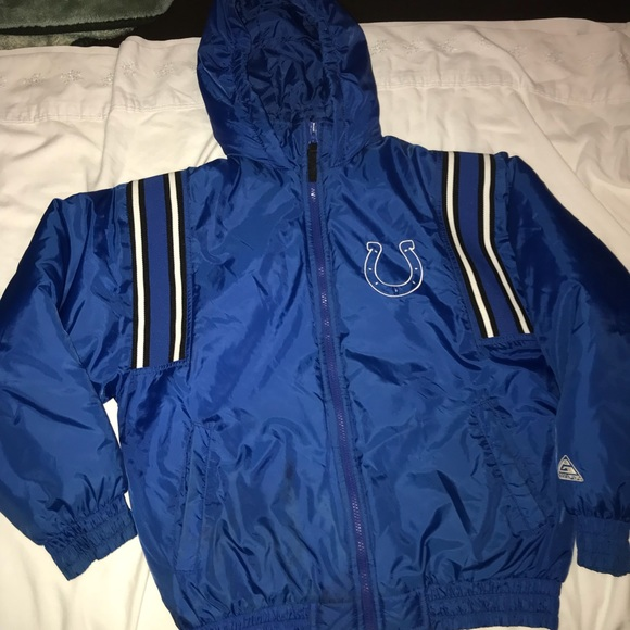 promo code 917b2 be4a9 NFL Indianapolis Colts jacket youth large small